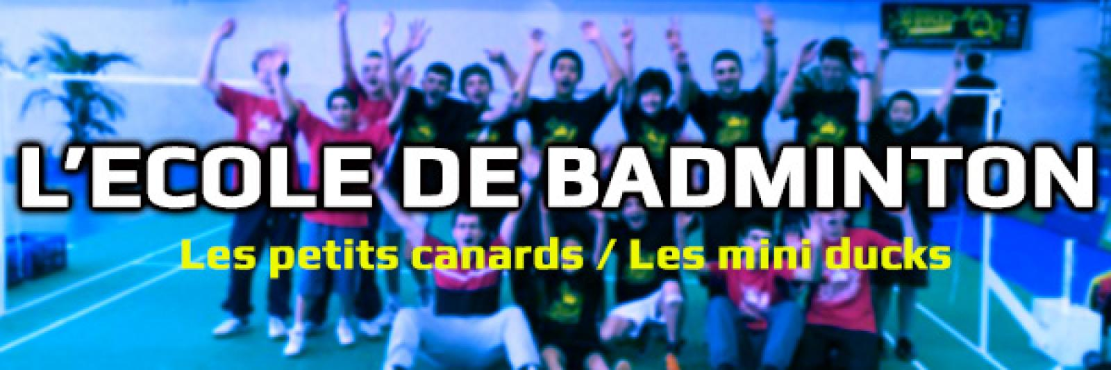 Inscriptions Ecole de Badminton